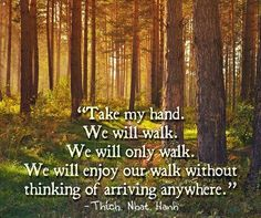 Take my hand...Tich Nhat Hanh