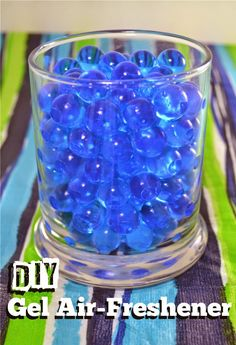 Dollar Tree Craft: Gel Bead Air Freshener -reusable.