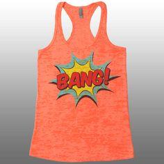 bdaecd532df3e7 BANG Workout Tank Top for Women. Cute Burnout Racerback Tank Top. Fitness Tank  Tops