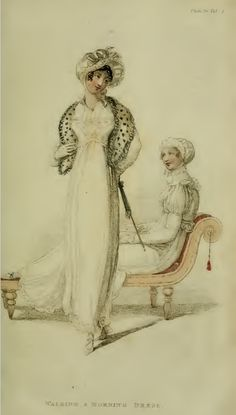 Fashion and Class Anxiety - Ackermann's Fashion Plates for 1810, via Bliss Bennet. Plate 30, Vol. IV, no. XXIII, page 302