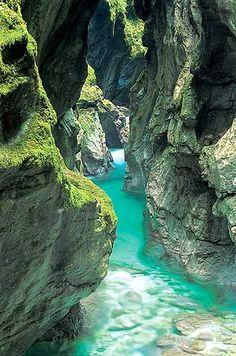 Soča river {Slovenia}. Kayak down that place.