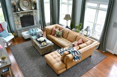 Love the set up of this living room! Next couch is a sectional!