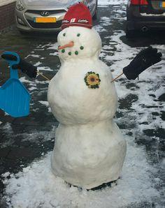 Winterpret Sneeuwpop