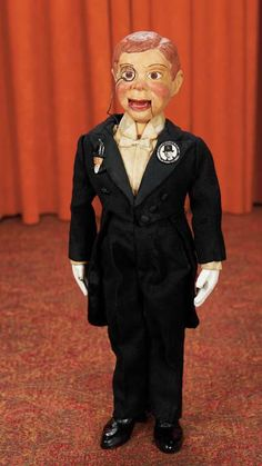 One-of-a-Kind Handmade Prototype of Charlie McCarthy by Edgar Bergen,Autographed Antique Toys, Vintage Antiques, Vintage Dolls, Retro Vintage, Chatty Cathy Doll, Charlie Mccarthy, Ventriloquist Dummy, Mc Carthy, Effanbee Dolls
