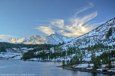 Sunrise Clouds, Tioga Lake, Cathedral Ridge