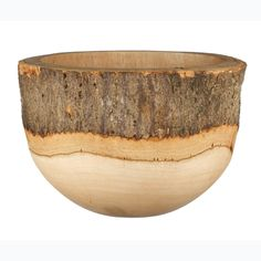 wooden bowl with bark.  This rocks my world.....