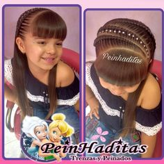Without the Bangs! Lil Girl Hairstyles, Crown Hairstyles, Pretty Hairstyles, Braided Hairstyles, Braids For Kids, Girls Braids, Girl Hair Dos, Let Your Hair Down, Toddler Hair