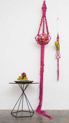 Fruit holder....my grandmother had a non macrame one that had multiple tiers...what about a multi-tier macrame one
