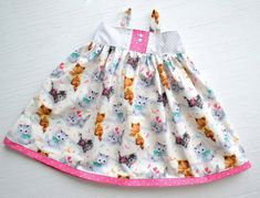 Toddler Dress Baby Girl Dress Cat Dress Kitty by GirlWithATwirl