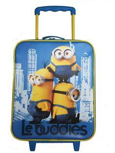 Hauskalla Minions-vetolaukulla lähdet reissuun kuin reissuun! Siinä on pyörät ja ulosvedettävä vetokahva. 27,5 x 14 x 44 cm. 3–9-vuotiaille.