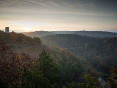 10 best hiking trails in missouri Missouri hiking:  Lost Valley Trail in Chesterfield 30min from  Haz  Louis and Clark trail St Charles 10min from Haz  Meramec State Park, Sullivan. 1hr15min from Haz  Ha Ha Tonk 2hr15Min near LakeoftheOzarks   Buford Mountain. Highest point in MO 1hr15min from Haz