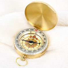 GOLD BRASS Engraved Compass. Free engraving of by CMTImpressions