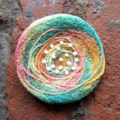 Pin - Felted Wool,  via Etsy. Simple but lovely