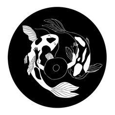 Koi Fish Discover Circle by Sunny Weeks Record Wall Art, Cd Wall Art, Cd Art, Line Drawing, Painting & Drawing, Circle Drawing, Vinyl Platten, Landscape Paintings, Art Paintings