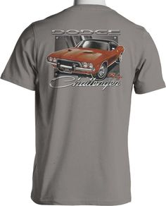 MOPAR Dodge Challenger RT T Shirt Hemi Muscle Car Mens Small to 6XL and Tall #PitStopShirtShop #GraphicTee