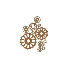 Steampunk Gears ❤ liked on Polyvore featuring steampunk and backgrounds