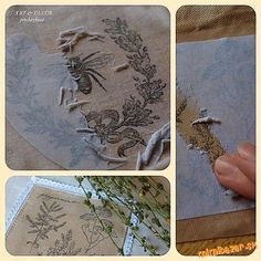 Technika zošúchavacia alebo ako dostať obrázok na textil.../how to get picture on textil Stamp Printing, Printing On Fabric, Textile Art, Fabric Design, Art Decor, Decoupage, Textiles, Embroidery, Prints