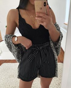 Pin on Thanya's Outfit Teen Fashion Outfits, Edgy Outfits, Cute Casual Outfits, Look Fashion, New Outfits, Girl Outfits, Cute Summer Outfits, Spring Outfits, Mode Bcbg