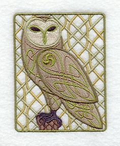 Celtic Knotwork Owl design (C6117) from www.Emblibrary.com