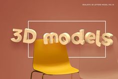 3D Letters Model Vol 01 by Brenners Template on @creativemarket Geometric Font, 3d Letters, 3d Typography, Creative Powerpoint Templates, 3d Assets, Wood Texture, Glyphs, Lower Case Letters