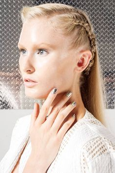 Custom Jamberry nail wraps featured in the Ann Yee presentation at #NYFW #SS14 application by www.mlwcd.jamberrynails.net