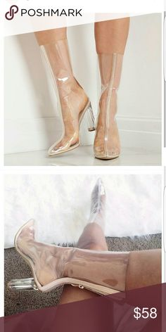 Clear perspex boots Ego official boots ego official  Shoes Ankle Boots & Booties