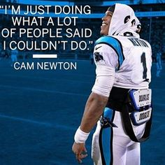 e729d4c870e Cam Newton on making it to the Super Bowl in his fifth NFL season. Love  Football Lee · Keep Pounding Carolina Panthers