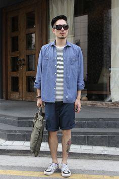 mensweartrumps:    Shirts : BAPE, Top : American Apparel, Shorts : CRITIC, Shoes : VANS, Bag : LEATA, Sunglasses : Linda Farrow X Luella