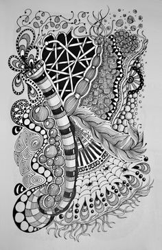 Zentangle 1: Pam's Tangles