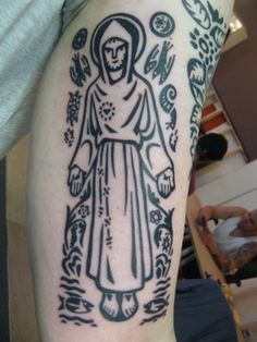 St Francis - Tattoo based on art by Ade Bethune