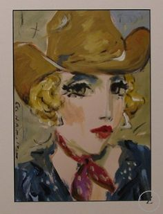Cowgirl III by George Hamilton - Zantman Art Galleries - Fine art gallery in Carmel, CA George Hamilton, Fine Art Gallery, Galleries, Portraits, Artist, Painting, Art Gallery, Head Shots, Artists