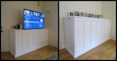 A great DIY solution when you want your flat screen TV out of view when not in use!  Learn how to make your own DIY TV lift cabinet! View this project album with link to detailed instructions.  http://theownerbuildernetwork.co/kggw