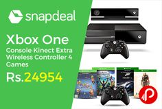 Snapdeal is offering 46% off on Microsoft #XboxOne #Console with Kinect with 1 Extra Wireless Controller and 4 Games DLC (Halo 5, Forza Motorsport 6 , Fruit Ninja 2 & Kinect Rivals) Just at Rs.24954.   http://www.paisebachaoindia.com/xbox-one-console-kinect-extra-wireless-controller-4-games-just-at-rs-24954-snapdeal/