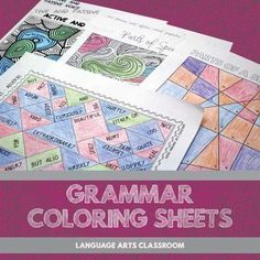 Engages students with a difficult concept (grammar!) by providing a fun, tactile outlet (coloring!).