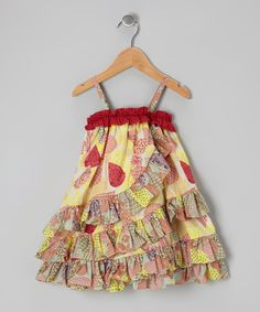 Look at this Red Petal Ruffle Dress - Infant  Toddler on #zulily today!