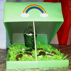 """Leprechaun Trap for my preschoolers!- Mallory says his name is """"Larry"""""""