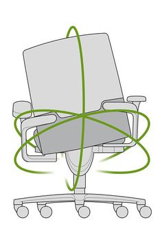 ON silla giratoria de oficina / silla de conferencia y visita / sillón ejecutivo / Diseño: wiege / Wilkhahn