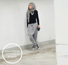 Grey Crossover Trousers styled by @ziziosashion www.inayahcollection.com