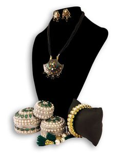 Dineshalini Meenakari Pendent Set80 with Jewellery Box | eBay