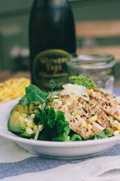 Corn & Avocado Salad with Chicken