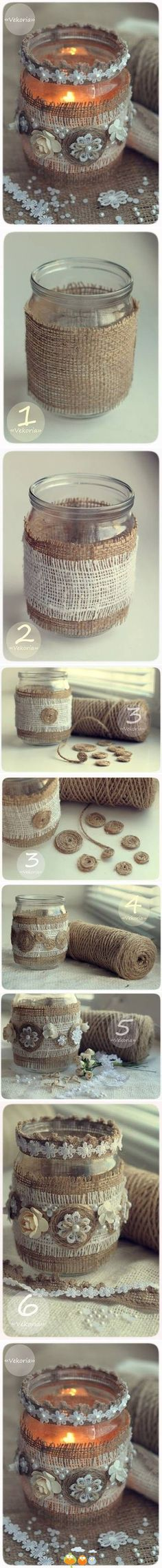 """Make your decoration and have a beautiful """" light in the jar """""""