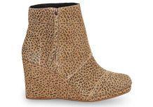 Cheetah Suede Women's Desert Wedge Highs Toms