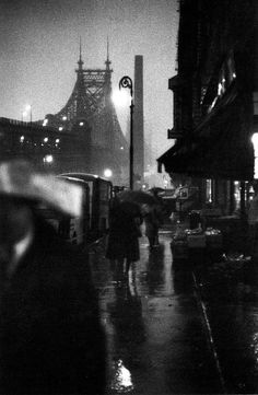 Photo: Louis Faurer. A view of Queensboro Bridge from Manhattan, 1940s.