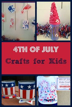 Fun 4th of July crafts for kids to show off their patriotic side and keep them busy while they wait for the fireworks display!