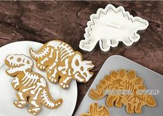 Set of 3 - DIY dinosaur Cookie Cutter, Cake Mould, Cookie Biscuit, Fondant Mould ,baking tool  Perfect for afternoon tea or gifts for your
