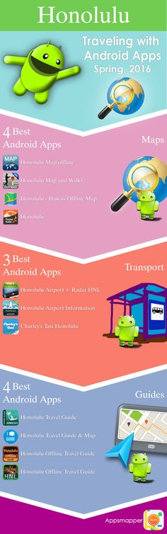 Best Android apps for traveling to Honolulu. Spring 2016.
