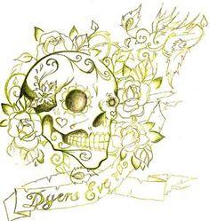 sugar skull... thigh piece maybe?