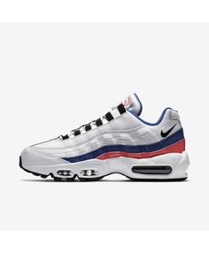 271e1694ea606a Nike Air Max 95 Essential Trainers In Blue Red Black White