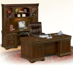 NBF Signature Series Pont Lafayette Three Piece Office Group by NBF Signature Series. $2595.00. Sturdy, all-wood construction in deep walnut veneers.. Bail hardware. Made from wood grown in sustainable forests. Group includes: Desk, Credenza, and Hutch. Featuring crown molding and picture frame detailing.. You've made it, and now it's time to savor the moment. This fine executive office, part of a collection designed exclusively for NBF, exemplifies professionalism, inte...