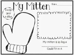 Two activities included: Writing activity-My mitten is so big a ______ could fit in it. Animals and mitten included for retell activity. Writing Activities, Classroom Activities, Winter Activities, Preschool Winter, Retelling Activities, Preschool Ideas, January Preschool Themes, Teaching Ideas, Winter Craft